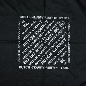 Accessories - Butch County Austin Texas Black Bandana A010470